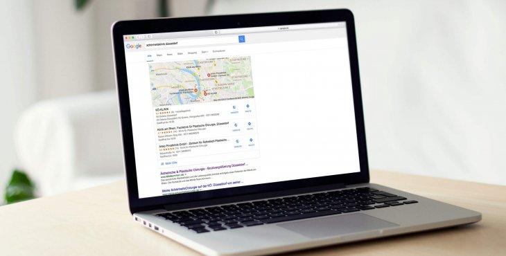 Positionierung bei Google mit relevanten Suchbegriffen