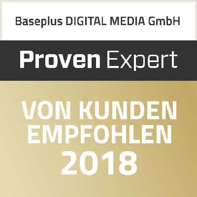 Proven Expert von Kunden empfohlen 2018