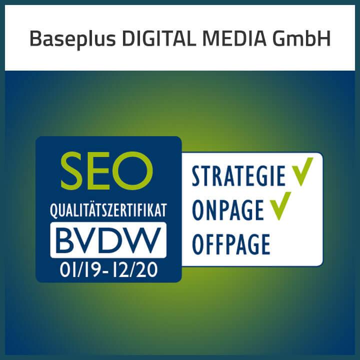 SEO Qualitätszertifikat BVDW
