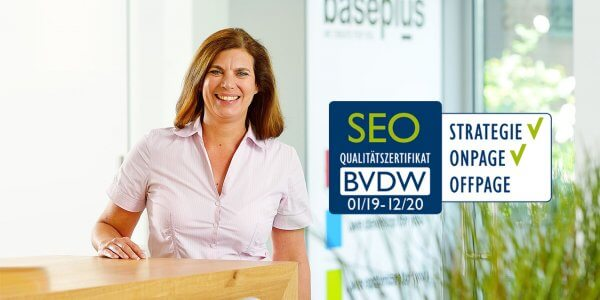 baseplus erhaelt SEO-Qualitaetszertifikat des BVDW