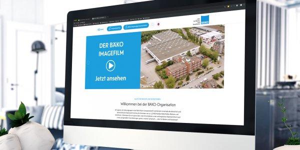 Startseite BÄKO schlichtes Design Website Relaunch