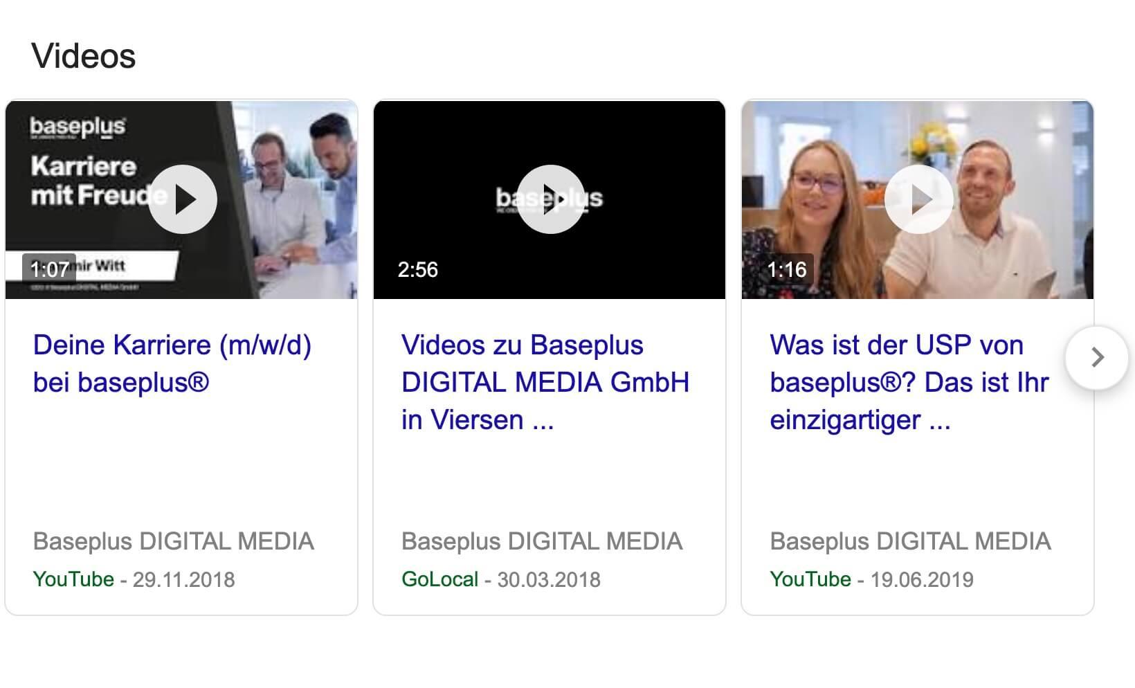 Google- Video-Suche große Darstellung