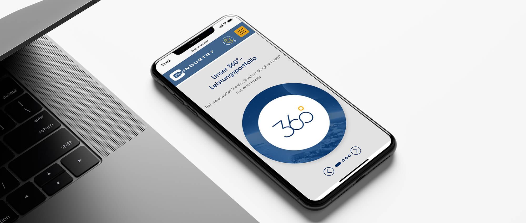 Ansicht der CPRO-Webseite auf dem Smartphone