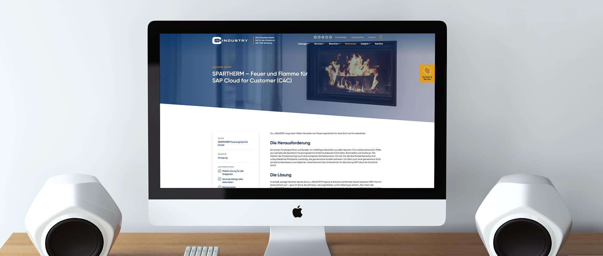 Desktopansicht der SuccessStories von der Webseite von CPRO