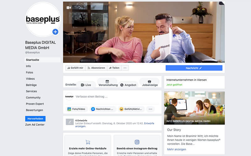 baseplus® 15 Jahre Social Media Facebook